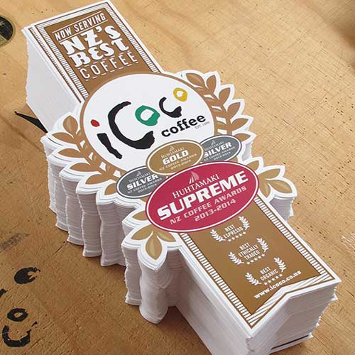 coffee stickers, icoco stickers, shop stickers