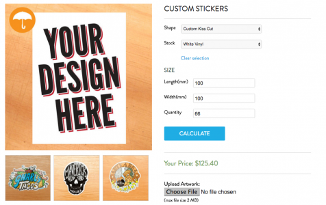 custom sticker pricing calculator auckland, stickers nz