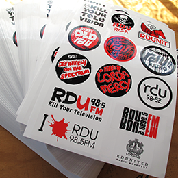 RDU Sticker Sheets