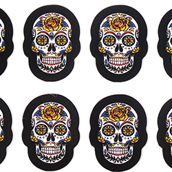 Loco Mexican Skull Stickers