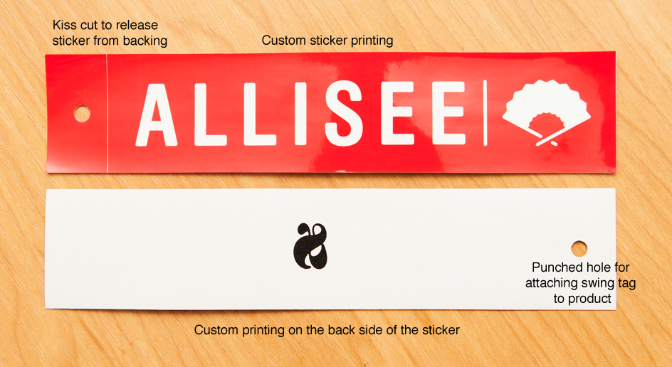 clothing hang tags, clothing swing tags, sticker hang tags, printing stickers auckland