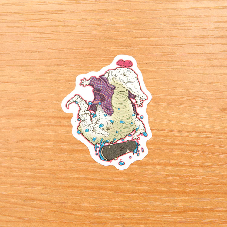 Custom stickers alligator sticker custom shaped sticker skateboarding stickers