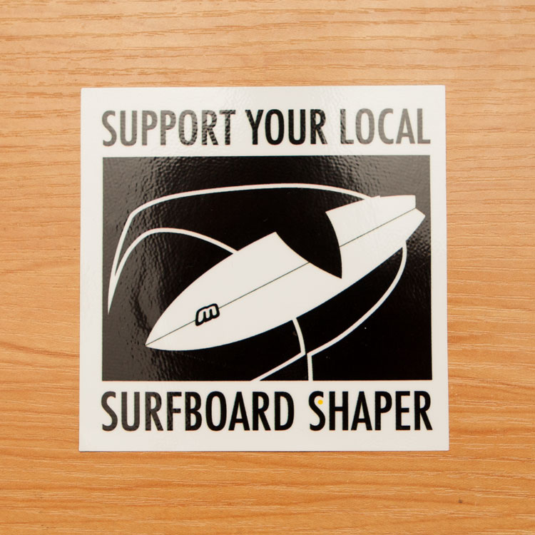 Morris surfboards surfboard stickers square stickers sticker printing