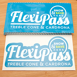 Treble Cone Flexi Pass Window Stickers