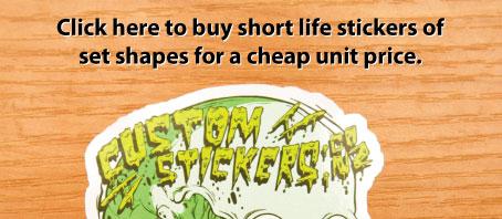 buy stickers online, custom stickers, shape stickers