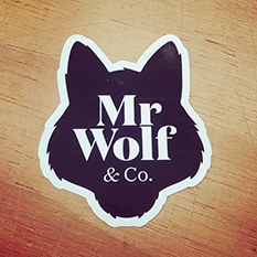 auckland stickers, mr wolf stickers, auckland labels